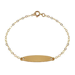 Girls 14K Gold Id Bracelet
