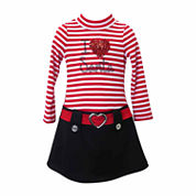 Lilt Long Sleeve Drop Waist Dress - Preschool