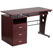 Mahagony 3 Drawer Desk