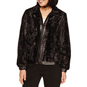 Alfred Dunner Wrap It Up Faux Fur Car Coat