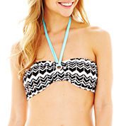 a.n.a® Zigzag Print Center Pull Bandeau Swim Top