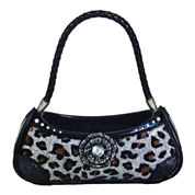 Silver Leopard Print Handbag Ring Holder