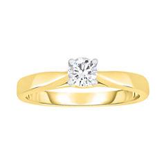 True Love, Celebrate Romance® 1/3 CT. Diamond Solitaire 14K Yellow Gold Ring
