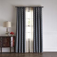 Liz Claiborne® Henri Blackout Rod-Pocket/Back-Tab Curtain Panel