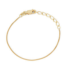Children's 14K Yellow Gold Over Silver Box Chain Bracelet