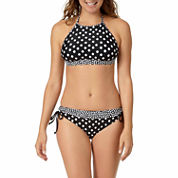 a.n.a® Polka-Dot High-Neck Swim Top or Polka-Dot Keyhole Hipster Swim Bottoms