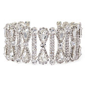 Natasha Crystal Silver-Tone Bracelet