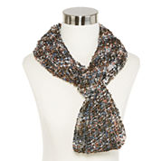 Space-Dyed Metallic-Accent Confetti Infinity Scarf