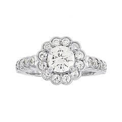 Diamonore™ 1¾ CT. T.W. Simulated Diamond Round Flower-Shaped Ring