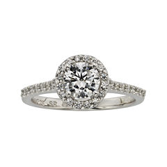Diamonore™ 1 CT. T.W. Simulated Diamond Round Halo Ring