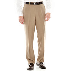 Louis Raphael® Flat-Front Mini-Herringbone Dress Pants - Classic Fit