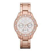 Relic® Sophia Womens Crystal-Accent Rose-Tone Bracelet Sport Watch ZR15741