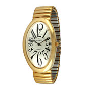 Peugeot® Womens Gold-Tone Stainless Steel Expansion Bracelet Watch 7098G