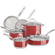 KitchenAid® 10-pc. Stainless Steel Cookware Set KCSS10ER