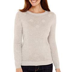 Liz Claiborne® Long-Sleeve Dot Sweater