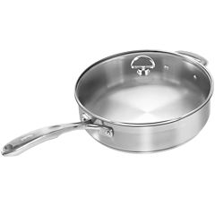 Chantal® Induction 21 Steel™ 5-qt. Sauté Skillet with Glass Lid