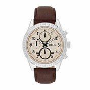 Relic Mens Brown Strap Watch-Zr15864