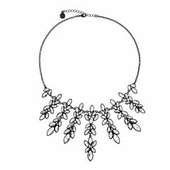 Monet Jewelry Clear And Black Drama Necklace