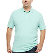 The Foundry Big & Tall Supply Co. Short Sleeve Solid Jersey Polo Shirt Big and Tall
