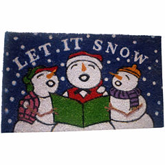 Let it Snow Rectangular Doormat