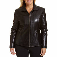 Excelled Lambskin Scuba Jacket with Zip Pockets - Plus