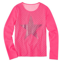 Total Girl Long Sleeve Graphic Top - Big Kid