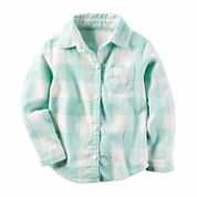 Carter's Girls Long Sleeve Button-Front Shirt