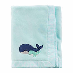 Carter's Boy Blue Whale Blanket
