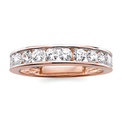 tw diamond 10k rose gold wedding band - Jcpenney Jewelry Wedding Rings