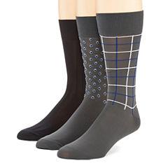 Stafford® 3-pk. Microfiber Nylon Crew Socks