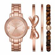 Liz Claiborne Womens Rose Goldtone Watch Boxed Set-Lc9041