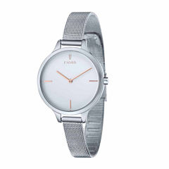Fjord Womens Silver Tone Expansion Watch-Fj-6027-22