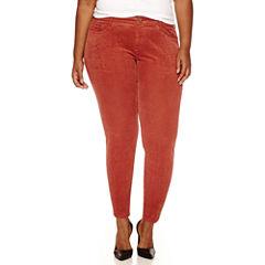 Arizona Skinny Fit Corduroy Pants - Juniors Plus