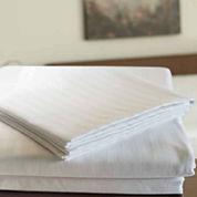 24-pc 220tc Sateen Stripe Flat Sheet