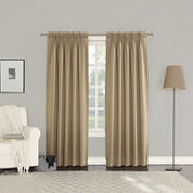 Sun Zero Emory 2-Pack Room Darkening Pinch-Pleat Curtain Panels