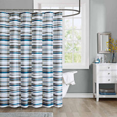 Intelligent Design Wyatt Microfiber Shower Curtain
