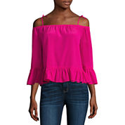 a.n.a Long Sleeve Peplum Top Talls