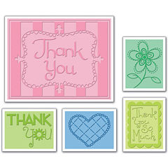 Sizzix® Textured Impressions Embossing Folders – Thank You no.3