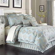 Marquis by Waterford® Hadley Blue 4-pc. Comforter Set & Accessories