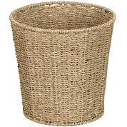 Household Essentials® Woven Seagrass Wastebasket