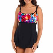 Robby Len By Longitude Solid Swim Dress