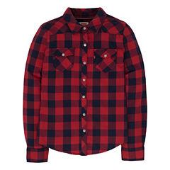 Levi's A Long Sleeve Button-Front Shirt Girls