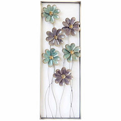 6 Flowers On Stem Right Wall Decor