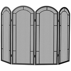 Blue Rhino 4 Panel Wrought Iron Fireplace Screen