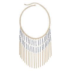 Decree® Bugle Bead Fringe Necklace