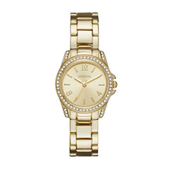 Geneva Womens Gold-Tone Bracelet Watch