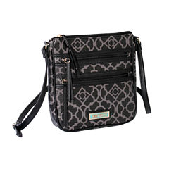 Waverly Lattice Double Zip Crossbody Bag