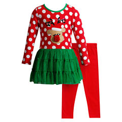 Young Land Legging Set-Toddler Girls