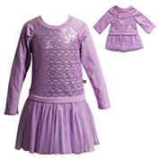 Young Land Long Sleeve Dress Set - Preschool
