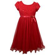 Bonnie Jean Short Sleeve Fit & Flare Dress - Big Kid